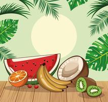 tropiska färska frukter