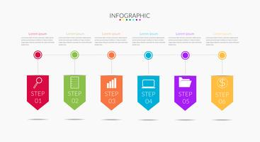 Business Infografik Zeitleisten vektor