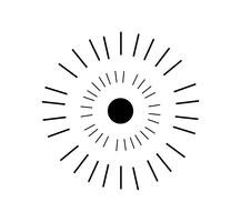 Glanz Sunburst auf weiß vektor