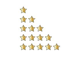 Fem stjärnor i vitt