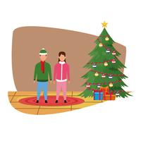 God jul i familjen vektor