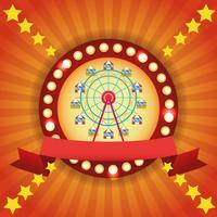 Cirkus mässa festival färgglada emblem