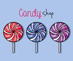 leckere süße Bonbons mit köstlicher Textur