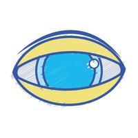 mänskligt öga till optisk synikon