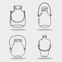 Glas Einmachglas mit verschiedenen Formen