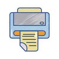 skrivarmaskinteknik med affärsdokument
