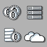 Set Blockchain-Sicherheitstechnologie mit Rechenzentrum