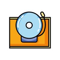 Schulglocke Alarm Objektdesign vektor