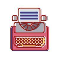 Retro Schreibmaschine Ausrüstung mit Geschäftsdokument