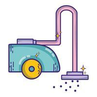 Staubsaugermaschine elektrische Ausrüstung vektor