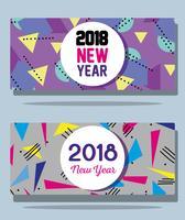 Frohes neues Jahr Zahlen backgrund Design vektor
