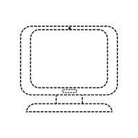 prickad form dator digital skärm utrustning teknik vektor