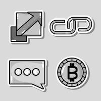 Set Blockchain-Sicherheitstechnologie mit Rechenzentrum vektor