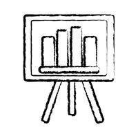 Strategiedarstellung mit grafischer Statistikleiste vektor