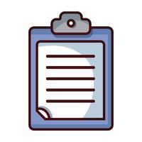 checklista affärsdokument i urklippsdesign