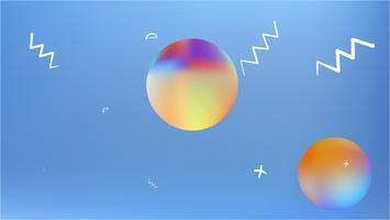 Kreative Raumhintergrundmasche. vektor