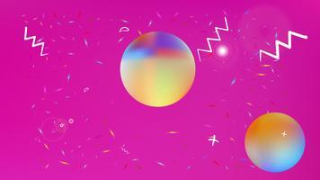 Liquid Space Hintergrund Mesh. vektor