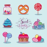 Set süße Süßwaren mit köstlichen Textur