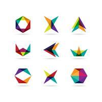 Geometrie-Form-Logo-Set vektor