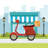 motorcykel leverans service ikon
