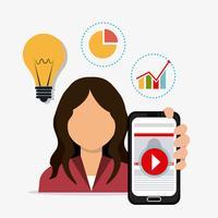 Nutzer von digitalem und sozialem Marketing vektor