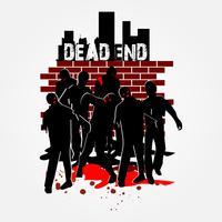 Gehende Zombies in der Gruppe vektor