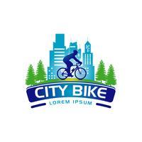 City Bike Logo Banner Zeichen Symbol Symbol vektor