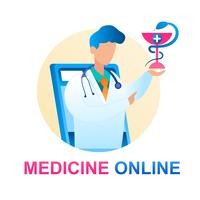 Medicin Online-konsultation Läkare Barnläkare vektor