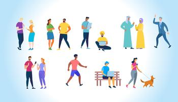 Multiracial och internationella folketecken