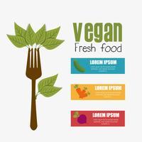 Vegansk matdesign. vektor