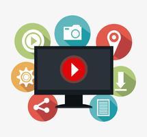 Digitale und soziale Marketingstrategien vektor