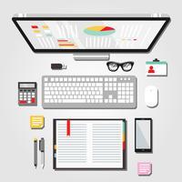 Skrivbordsarbetsyta Grafisk illustration