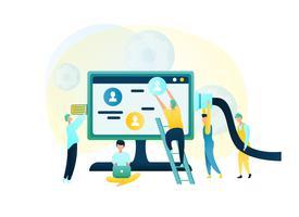 Gruppen-Leute-Kundenbetreuungs-Arbeitskraft vektor