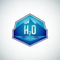 Vattenetikett med berg