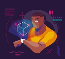 teknik för förstärkt verklighet vektor
