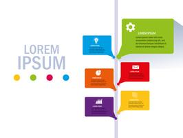 Isolierte Workflow und Infografik Design