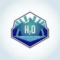 h2o naturligt vatten logotyp