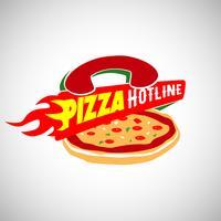 Pizzaleveranslogotyp vektor