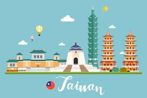 Taiwan resor landskap vektor