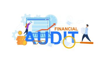 Illustration för finansiell revision vektor