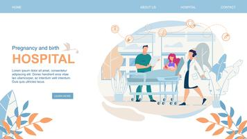 Website Schwangerschafts- und Geburtsklinik Flat vektor