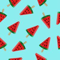 Vattenmelon skiva mönster vektor