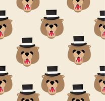 Kopf Teddybär Muster