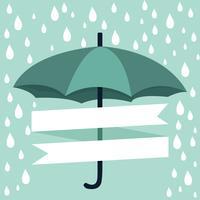 paraply med regn