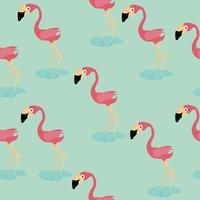 söt flamingo mönster vektor