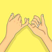 Hand pinky löfte koncept