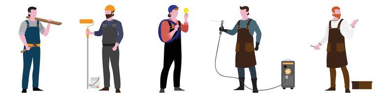 Platt karaktär av arbetsuppsättningen