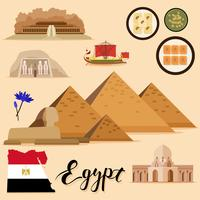 Tourist Egypt Travel set-samling vektor