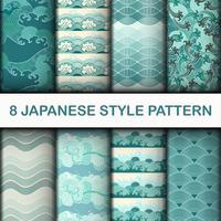 Japanska sömlösa mönsteruppsättning vektor