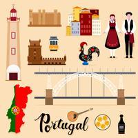 Touristische Portugal-Reisesatzsammlung vektor